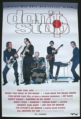 STATUS QUO Promo POSTER collectible Don't Stop