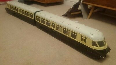 "Gauge 3 G Scale 2 1/2"" Gauge Great Western GWR Double Diesel Railcar (Electric)"