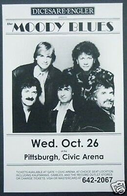 MOODY BLUES Promo concert poster collectible