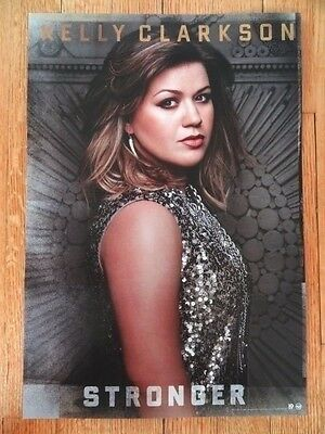 KELLY CLARKSON Promo POSTER display flat 12 x 17.5 STRONGER