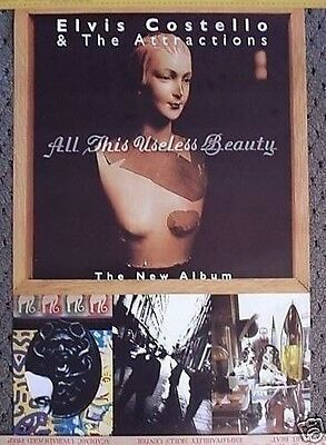 ELVIS COSTELLO POSTER Promo all this useless beauty