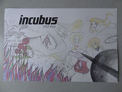 Incubus Poster 17 x 11 Promo collectible HQ Live