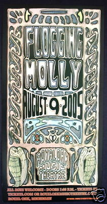 FLOGGING MOLLY jay michael CONCERT POSTER 2005