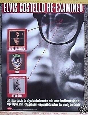 ELVIS COSTELLO Promo POSTER Re-Examined collectible