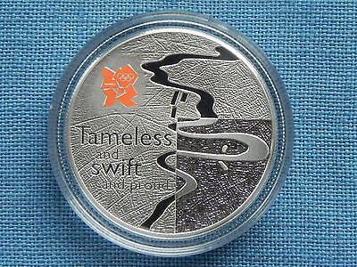 Silver Proof Five Pounds £5 Olympics Celebration Britain River Thames 2010