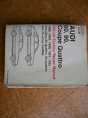 Audi 80, 90, Coupe Quattro Official Factory Repair Manual 1988-92 (Bentley)