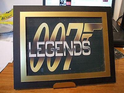 James Bond 007 plaque with stand