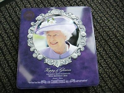 Empty Queen Elizabeth Ii 90Th Birthday Limited Edition Walkers Biscuit Tin