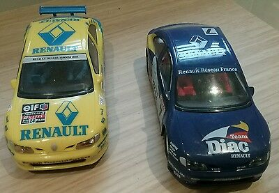 2 x HORNBY SCALEXTRIC SLOT RENAULT MEGANE RALLY CARS