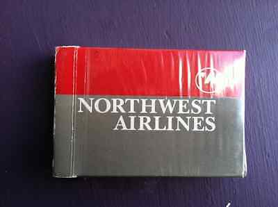 Northwest Airlines cloth Napkin,playing cards & World Perks tag