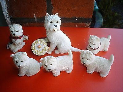 Beautiful Collection Of West Highland Terrier Figurines (V.g.c)