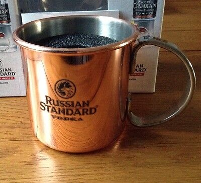 2 X Russian Standard Vodka Copper Mugs - New And Boxed