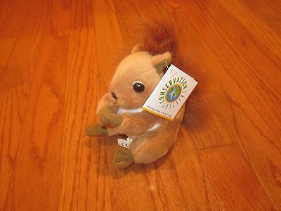 """* New *  Wildlife Artists Conservation Critters Red Squirrel Plush 5 """" *"""