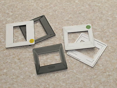 Grey White GePe 35mm Slide Transparency Mounts Re-usable