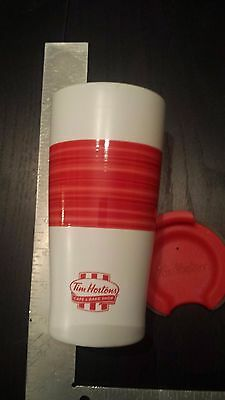 Tim Hortons 2015 Limited Edition Red Summer Coffee Travel Mug Cup  Rare