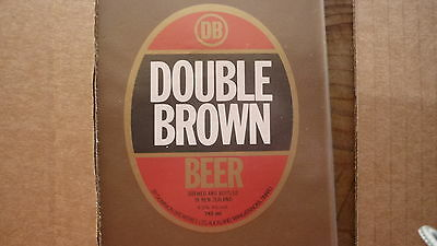 OLD NEW ZEALAND BEER LABEL, DOMINION BREWERY AUCKLAND, DOUBLE BROWN 745ml