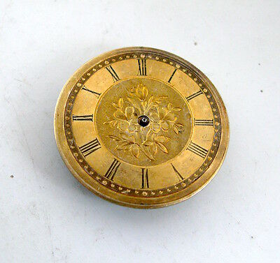 Gold Dial Pocket Watch Movement