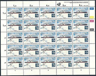"""South Africa 1991 """"Antarctic Treaty"""" Set of (2) x Sheets of stamps (SG 740/741)"""