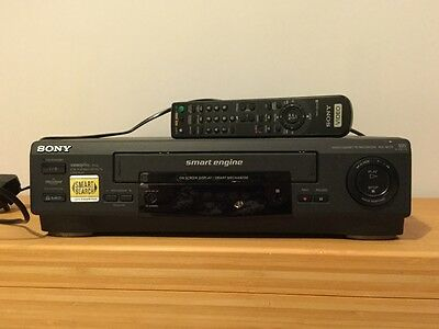 SONY SLV-SE20UX Video Player /VCR & Remote - Black - fully working