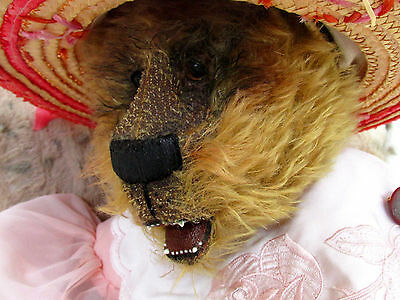 Huge Rare OOAK Artist bear by Jo with open mouth and teeth
