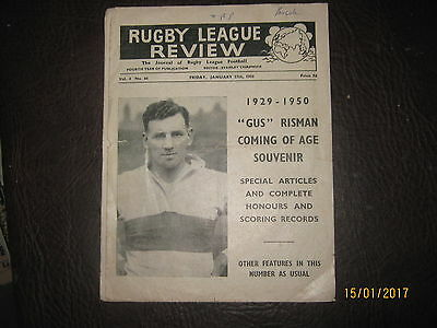 RUGBY LEAGUE REVIEW JANUARY 27th 1950