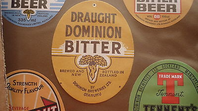 Old New Zealand Beer Label, Dominion Brewery Auckland, Draught Bitter