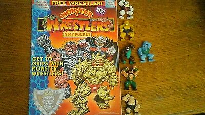 Monster wrestlers in my pocket magazine