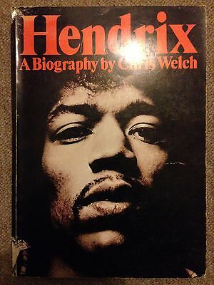 Hendrix: A Biography by Chris Welch / Paperback Book / Vintage 1973 Edition