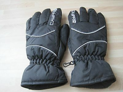 Black Skiing Gloves For Teenagers. From Campri.