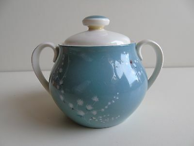 A Rare Lidded Sugar Bowl by Royal Doulton in the 'Spindrift' Design