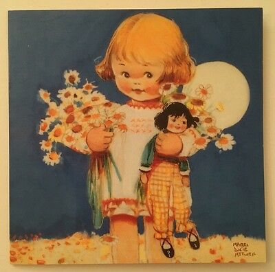 Blank Greeting Card - Dolly Loves Flowers Too by Mabel Lucie Attwell