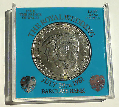 1981 The Royal Wedding Of Prince Charles And Lady Diana Spencer Boxed Crown Coin
