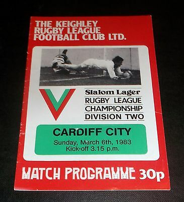 Programme Keighley V Cardiff City 1983