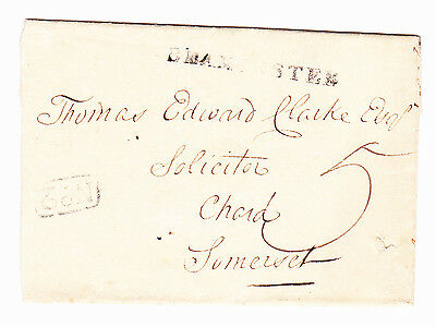 C1836 Dorset Cover Showing Straight Line Beaminster. No 2 & Crewkerne Pp.