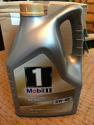 Mobil 1 0W-40 Fully Synthetic Engine Oil 5 Litres (5L)