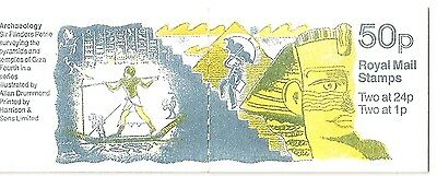 Great Britain. 50p stamp booklet 1991 FB62. Design No4 from set.
