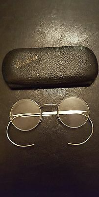 Vintage Antique Art Deco Spectacles Glasses Optical Complete With Case Uk