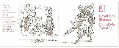 Great Britain. £1 stamp  booklet 1991 FH25 design 3 from Punch set