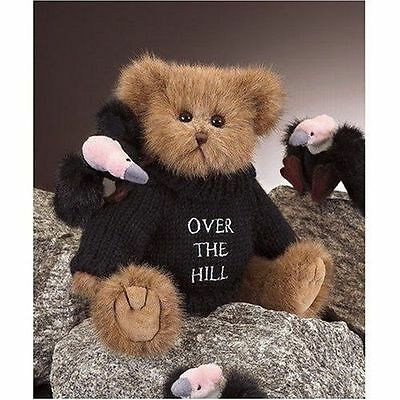 Beary Old Bearington Over the Hill Happy Birthday Dressed Teddy Bear New Tags