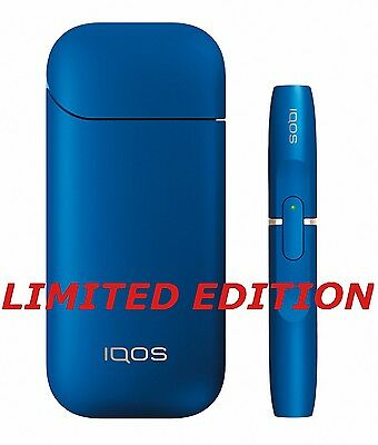 IQOS KIT SET Limited Edition BLUE Color NEW Tobacco HEATING SYSTEM WHITE FIRE