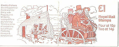 Great Britain. £1 stamp  booklet 1988 FH15 David Copperfield from Dickens set