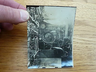 Ww1 Original Rare Photo Of Royal Navy Ships Engine Room 4 X 3.5 Inch