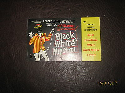 Black And White Minstrel Show Flyer 1968 Victoria Palace Theatre