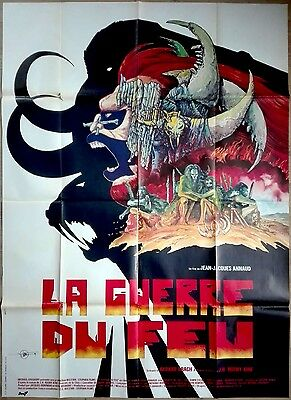 1981 QUEST FOR FIRE jean-Jacques Annaud Druillet Art 47x63 french film poster B