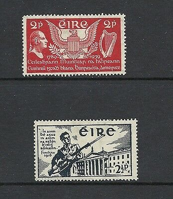 1939 King George VI SG109 and SG128 US Constitution/Volunteer Mint Hingd IRELAND