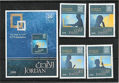 Jordan 2006 ICT in Education set of 4 stamps and Miniature Sheet