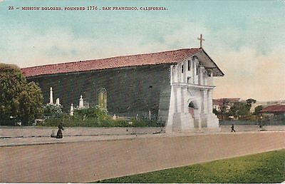 Edward H Mitchell San Francisco California CA Vintage Postcard Mission Delores