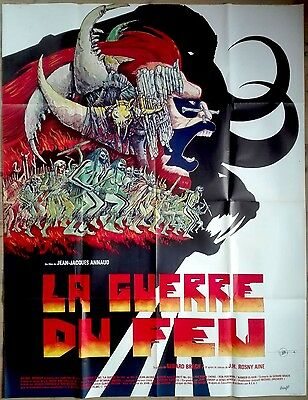 1981 QUEST FOR FIRE jean-Jacques Annaud Druillet Art 47x63 french film poster