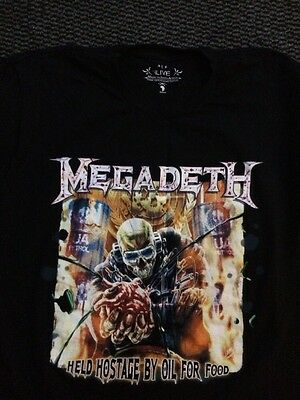 Megadeth Held Hostage By Oil For Good T Shirt In L Uk Tour