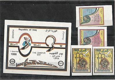 Iraq 1998 Martyrs Day set of 4 stamps and Miniature Sheet